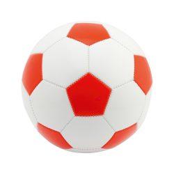 Minge de fotbal, marime 5, ø220 mm, Everestus, 20FEB7758, Piele ecologica, PVC, Rosu