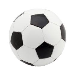 Minge de fotbal, marime 5, ø220 mm, Everestus, 20FEB7756, Piele ecologica, PVC, Negru
