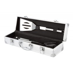 Set Barbeque 3 piese, 371×102×82 mm, Everestus, 20FEB4671, Otel inoxidabil, Argintiu