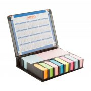 Adhesive notepad, 130×105×25 mm, Everestus, 20FEB8700, Piele ecologica, Negru