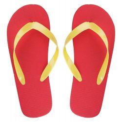 Customisable beach slippers - sole, unisex, 42-44, 36-38, 42-44, Everestus, 20FEB8095, Polietilena, Rosu
