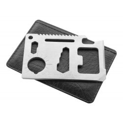 Unealta multifunctionala, 79×56×3 mm, Everestus, 20FEB15803, Otel inoxidabil, Argintiu