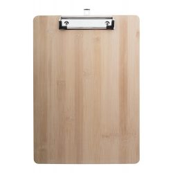 Bamboo clipboard, 225×315 mm, Everestus, 20FEB13826, Bambus, Natur, Argintiu