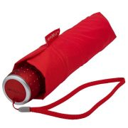 Umbrela manuala pliabila, rezistenta la vant, diametru 100 cm, maner drept, miniMAX by AleXer, 20FEB1749, Poliester, Rosu