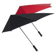 Umbrela manuala aerodinamica, maner drept, rezistenta la vant, Everestus, 20FEB1906, Poliester, Multicolor, model asortat